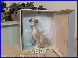 Lladro # 4583 Dog L@@ks Like'tramp' Mint Condition With Box Fast Shipping