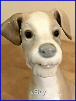 Lladro #4583 Sitting Puppy Dog Porcelain Terrier (7.5) Retired (free Shipping)