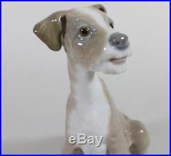 Lladro #4583 Sitting Puppy Dog Porcelain Terrier Figurine 7.5 RETIRED
