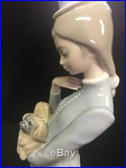 Lladro #4893 Walk With The Dog, Retired In 2004, 15 High