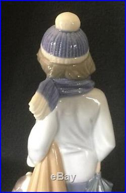 Lladro #5220 Boy And Dog In Winter. Brand New
