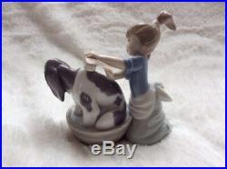 Lladro #5455 Bashful Bather Dog Figurine