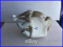Lladro 5456 New Playmates Figurine Spain Boy Puppies Dog