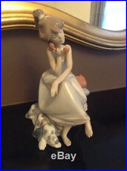 Lladro 5466 CHIT CHAT GIRL WITH DALMATIAN DOG Figurine PERFECT