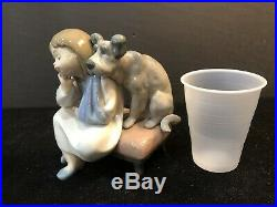 Lladro #5706 We Cant Play Dog Girl withInjured Arm In Sling MINT & Best Price