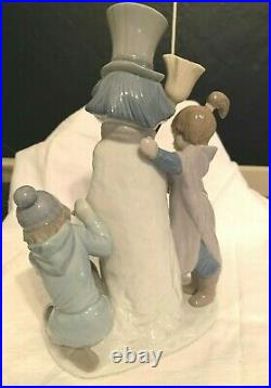 Lladro #5713 The Snow Man (with girl, boy and dog)