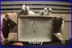 Lladro #5735 Girls with Dog on Couch Porcelain Figurine, MINT Condition