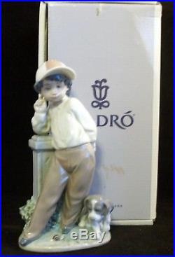 Lladro 5738 Best Foot Forward with Original Box Boy with Dog & Snail MIB