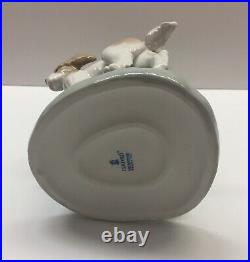 Lladro #5761 Out For A Romp Girl With Dogs Retired Mint