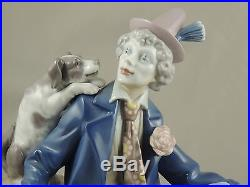 Lladro 5763 Musical Partners Clown With Dog Missing Clarinet Good Condition