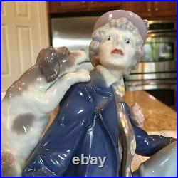 Lladro 5763 Musical Partners Clown with Dog and Clarient Mint Condition