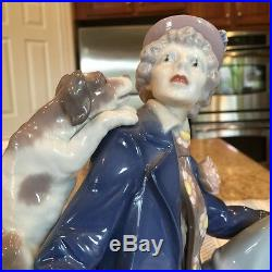 Lladro 5763 Musical Partners - Clown with Dog and Clarient Mint Condition