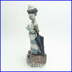 Lladro #5838'On the Move' Black Legacy Collection Clown & Dog Figurine with Box