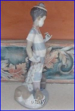 Lladro #5838 On the Move Black Legacy clown w flower dog umbrella -MWOB, RV$645