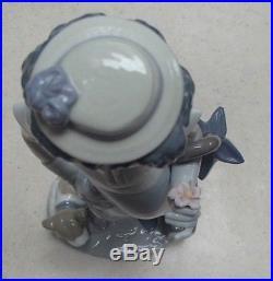 Lladro 5838 On the Move Black Legacy clown w flower dog umbrella MWOB, RV$645