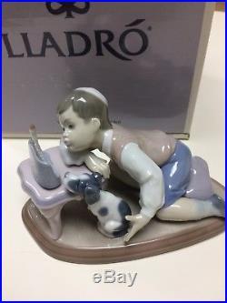 Lladro 6026 Jewish Boy & Dog Watching Menorah Rare Autograph By Juan Lladro