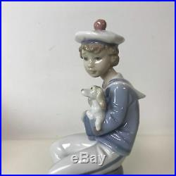 Lladro #6196 Seaside Companions Sailor Withdog With Box