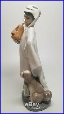 Lladro #6227 TRICK OR TREAT Boy with Pumpkin & Dog Figurine with BOX RARE RETIRED