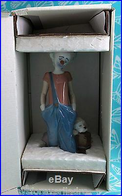 Lladro # 6245 DESTINATION BIG TOP Clown WithDog MIB