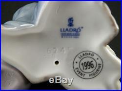 Lladro 6245 Destination Big Top Clown Boy & Dog Porcelain Figurine Spain Mint