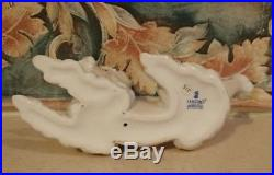Lladro #6337 Poodle dog laying down with pink collar bow MINT, no box, RV$340