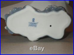 Lladro #6642 Little Stowaway Dog Sailor Puppy In Paper Boat Sailing