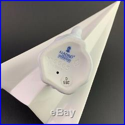 Lladro #6665 Let's Fly Away New in Original Box -Dog on Paper Airplane- Mint