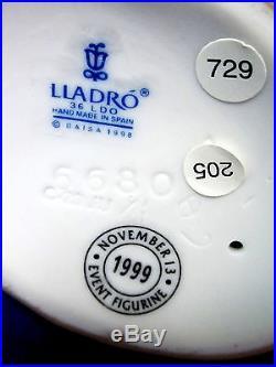 Lladro #6680 Friends Forever Bnib Girl Puppy Bone Dog Rare Bargain $170 Off F/sh