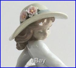 Lladro 6784 Puppy Parade Girl Walking Dogs Figurine 2001 With Original Box
