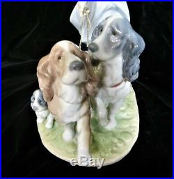 Lladro 6784 Puppy Parade Girl Walking Dogs Mint Retired