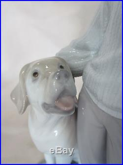Lladro #6902 My Loyal Friend Brand New In Box Boy And His Dog Lab 10 Tall Save$