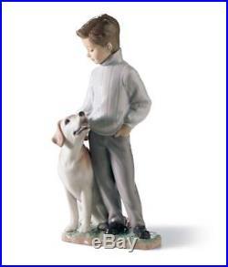 Lladro 6902 My loyal friend Boy with his Dog 01006902 New