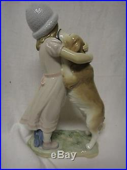 Lladro #6903 Warm Welcome Girl With Dog No Box