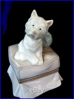 Lladro #6985 My Favorite Companion Brand Nib White Dog Ball Cute Save$$ Free Sh