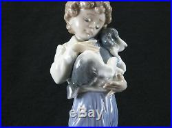 Lladro 7609 My Buddy Collectors Society 1989 Boy Dog Puppy Spain Porcelain MINT