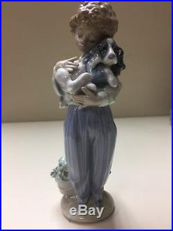 Lladro #7609 My Buddy Figurine, Young Boy with Dog Collector's Society Retired