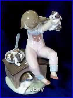 Lladro #7621 Pick Of The Litter Brand Nib Girl Dog Puppies $225 Off Free Shiping