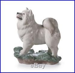 Lladro 8143 The Dog White Animals Sculpture Figurine 01008143 New