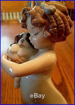 Lladro #8241 Learning To Care-girl And Dog Figurine-msrp $310-new In Box