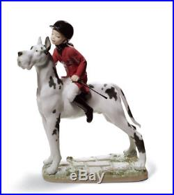 Lladro 8523 GIDDY UP DOGGY 01008523 New in original box Children