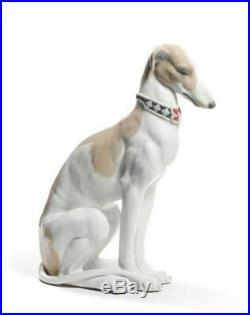 Lladro 8608 Pensive Greyhound Dog Sculpture Animals Figurine 01008608 New