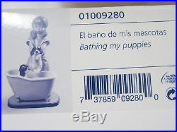Lladro #9280 Bathing My Puppies Brand Nib Girl Puppy Dog Save$ Free Shipping
