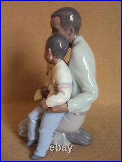 Lladro A MOMENT TO REMEMBER African Black Legacy Father with Son and Dog NIB