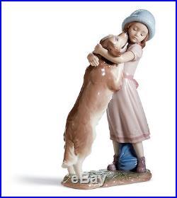 Lladro A Warm Welcome #6903 New in Box Home Decor Figurine Statue Dog Girl