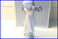Lladro'A Warm Welcome' Girl with Dog Figure, #6903, In Original Box