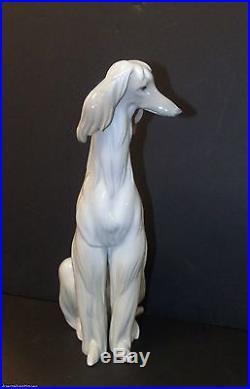 Lladro AFGHAN HOUND 11 3/4 PORCELAIN DOG FIGURINE Juan Huerta Retired
