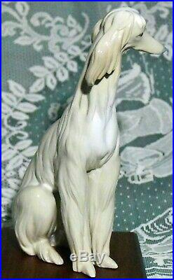 Lladro Afghan Dog # 1069. Large Figurine. Collectible Condition