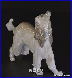 Lladro Afghan Hound #1282 Beautiful Vintage Dog $570 Value Mib