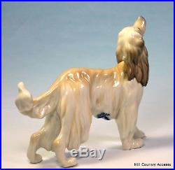 Lladro Afghan Hound #1282 Beautiful Vintage Dog $570 Value Mint