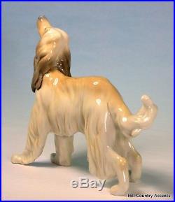 Lladro Afghan Hound #1282 Beautiful Vintage Dog $570 Value Mint